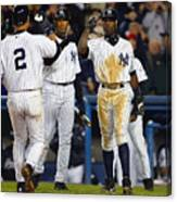 Alfonso Soriano, Derek Jeter, and Bernie Williams Canvas Print