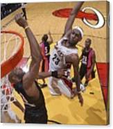 Alonzo Mourning and Lebron James Canvas Print