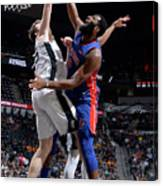 Andre Drummond and Jakob Poeltl Canvas Print