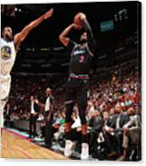 Andre Iguodala and Dwyane Wade Canvas Print