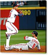 Andrelton Simmons and Danny Espinosa Canvas Print