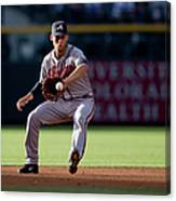 Andrelton Simmons And Drew Stubbs Canvas Print