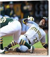 Andrew Mccutchen and Sonny Gray Canvas Print