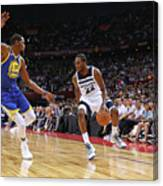 Andrew Wiggins and Kevin Durant Canvas Print
