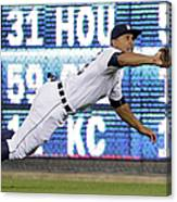 Anthony Gose And Ben Zobrist Canvas Print