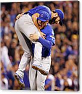 Anthony Rizzo and Jake Arrieta Canvas Print