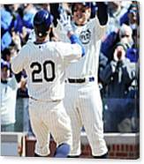 Anthony Rizzo and Justin Ruggiano Canvas Print