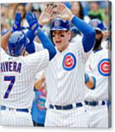 Anthony Rizzo and Rene Rivera Canvas Print