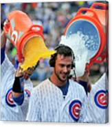 Anthony Rizzo, David Ross, and Kris Bryant Canvas Print