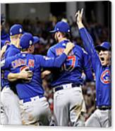 Anthony Rizzo, Kris Bryant, and Chris Coghlan Canvas Print
