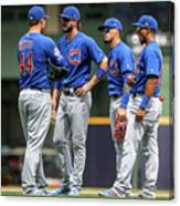 Anthony Rizzo, Kris Bryant, and Javier Baez Canvas Print