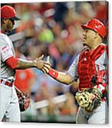 Aroldis Chapman and Brayan Pena Canvas Print