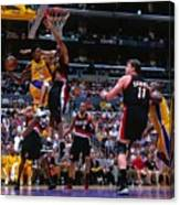 Arvydas Sabonis, Kobe Bryant, and Rasheed Wallace Canvas Print