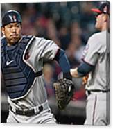 Asdrubal Cabrera and Kurt Suzuki Canvas Print