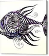 Asynchronous Hate Fish Canvas Print