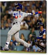 Austin Barnes and Javier Baez Canvas Print