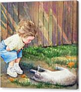 Autumn Catnip Canvas Print