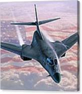 B-1 Above The Clouds Canvas Print