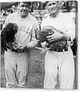 Babe Ruth and Walter Johnson Canvas Print