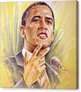 Barack Obama Yes We Can Canvas Print