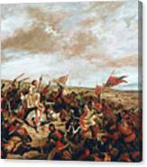 Battle of Poitiers on September 19, 1356 Canvas Print