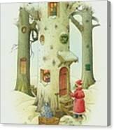 Bears Christmas Canvas Print