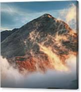 Ben Lomond Misty Sunset Canvas Print