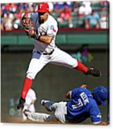 Ben Revere and Rougned Odor Canvas Print