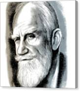 Bernard Shaw - Mixed Media Canvas Print