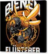 Bienen Flsterer Bee Beekeeper Honeycomb Gift Canvas Print
