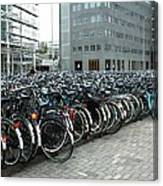 Bikes of Liede - Holland Canvas Print