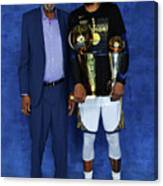 Bill Russell and Kevin Durant Canvas Print
