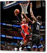 Bismack Biyombo and Bradley Beal Canvas Print