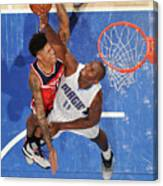 Bismack Biyombo and Kelly Oubre Canvas Print