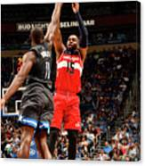 Bismack Biyombo and Marcus Thornton Canvas Print