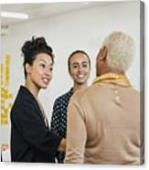 Brainstorming as a Group Canvas Print