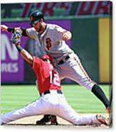 Brandon Belt and Rougned Odor Canvas Print