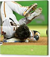 Brandon Crawford and Buster Posey Canvas Print