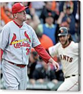 Brandon Crawford and Randy Choate Canvas Print