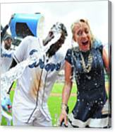 Brandon Phillips and Matt Kemp Canvas Print