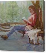 Break at Museum II Canvas Print