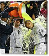 Brett Gardner and Derek Jeter Canvas Print