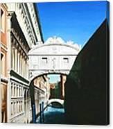 Bridge Of Sighs  Venice  Italy Canvas Print