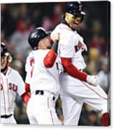 Brock Holt and Mookie Betts Canvas Print