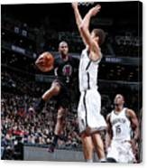 Brook Lopez and Chris Paul Canvas Print