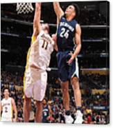 Brook Lopez and Dillon Brooks Canvas Print