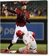 Bryce Harper And Wilmer Flores Canvas Print