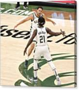 Bryn Forbes and Jrue Holiday Canvas Print