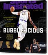 Bubble-icious Los Angeles Lakers NBA Championship Sports Illustrated Cover Canvas Print