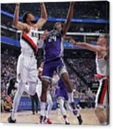 Buddy Hield and Skal Labissiere Canvas Print